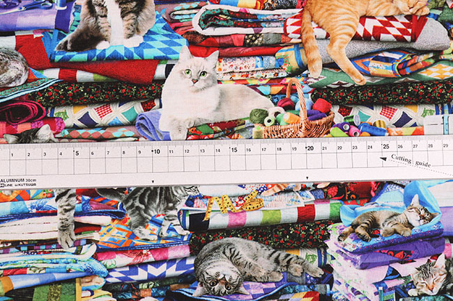 USAコットン CAT&QUILT[f5cat-cd6878]